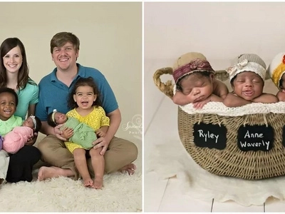 White couple give birth to African-American TRIPLETS and the internet absolutely adores them (photos)