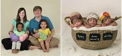 """Meet missionary couple who """"gave birth"""" to African-American TRIPLETS winning hearts of millions (photos)"""