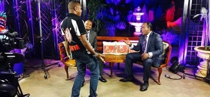 Boniface Mwangi and Moses Kuria FACE OFF on Live TV, then this happens (Video)