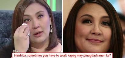 Di talaga siya okay! Sharon Cuneta dismisses questions of reporters about her 'sad' appearance by saying, 'May pinagdadaanan lang'
