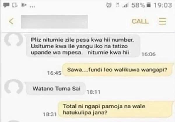 Jamaa akiona cha mtema kuni kwa kupanga kumwibia Mkenya kwa Mpesa
