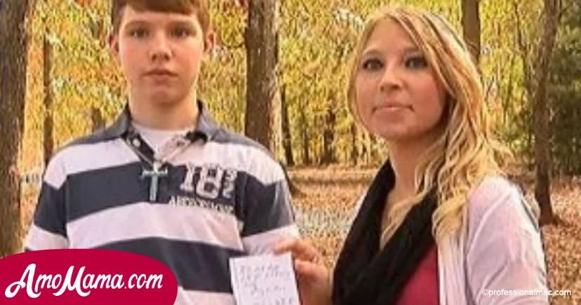 Un extraño notó que algo andaba mal con la familia que conoció y ¡cuando la madre desvió la vista le entregó al hijo una nota increíble!