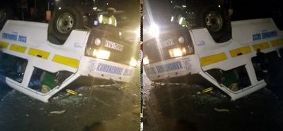 Kawangware matatu rolls several times near Serena Hotel (photos)