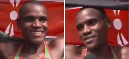 Kenyan athlete's English interview at Kasarani will throw you off the chair (video)