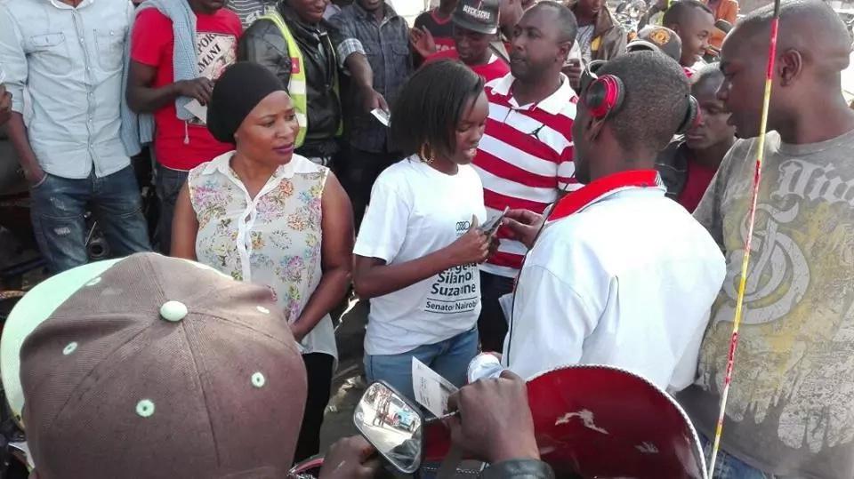 Silantoi during one of her campaigns. Photo: Suzzane Lengewa Sintaloi