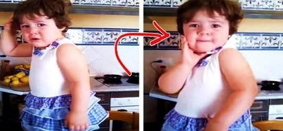 This hilarious little girl was throwing a giant tantrum. Her behavior completely changed when someone wanted to take her photo!