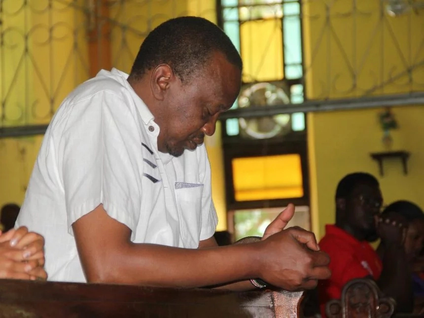 Uhuru shows his religious side