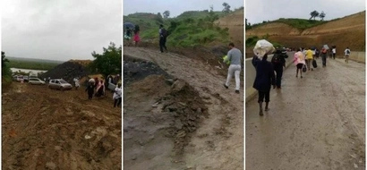 Photos showing the struggles Kenyans go through to access the SGR stations emerged