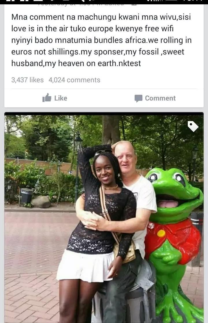 Binti Mkenya aringa na sponsa mzee sana, na kushangaza wananchi