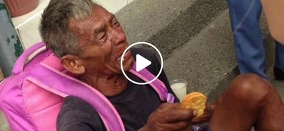 Kawawa naman si Lolo! Homeless old man cries for help to be with family in Aurora