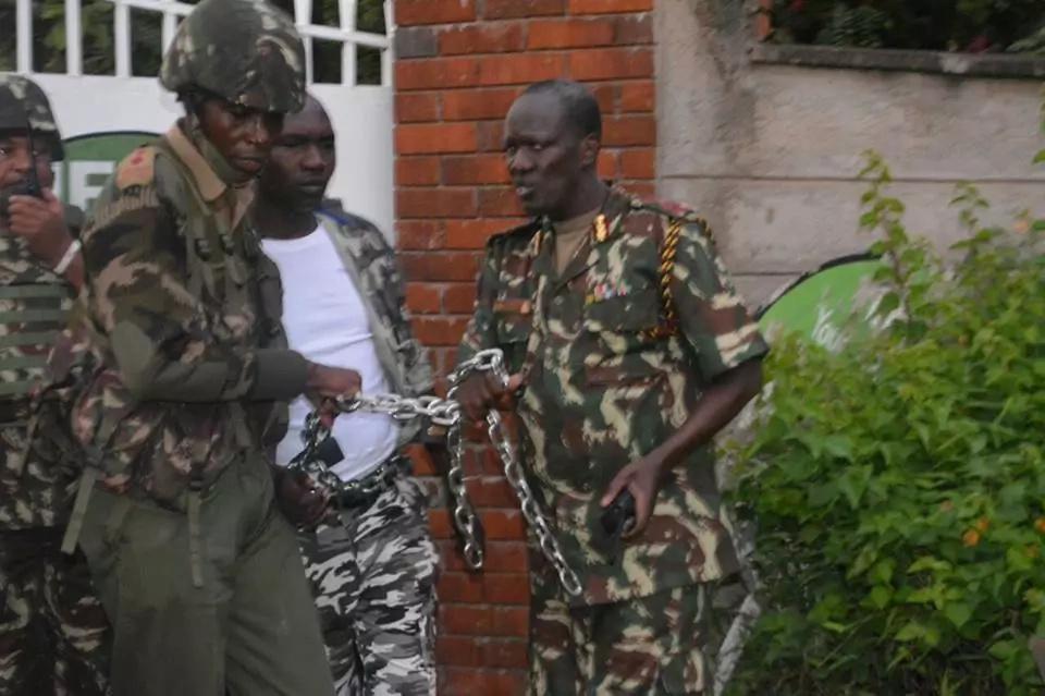 Kisumu Youths demonstrate in solidarity with Raila Odinga