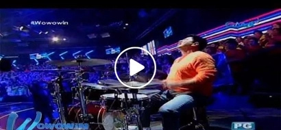 Willie Revillame amazes everyone with his intense drumming skills