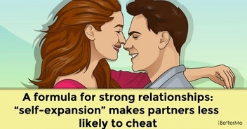 "A formula for strong relationships: ""self-expansion"" makes partners less likely to cheat"