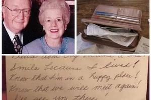 Estuvieron casados por 60 años y cuando su esposa murió encontró una hermosa nota