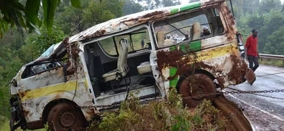 Passengers Narrowly Escape Death After Matatu Rolls In Chuka