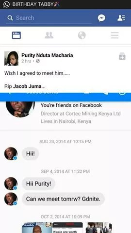 See screenshots of the moment Jacob Juma asks a lady to go to his house