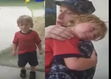 VIDEO: 3-year-old boy's heart-warming reunion with his daddy
