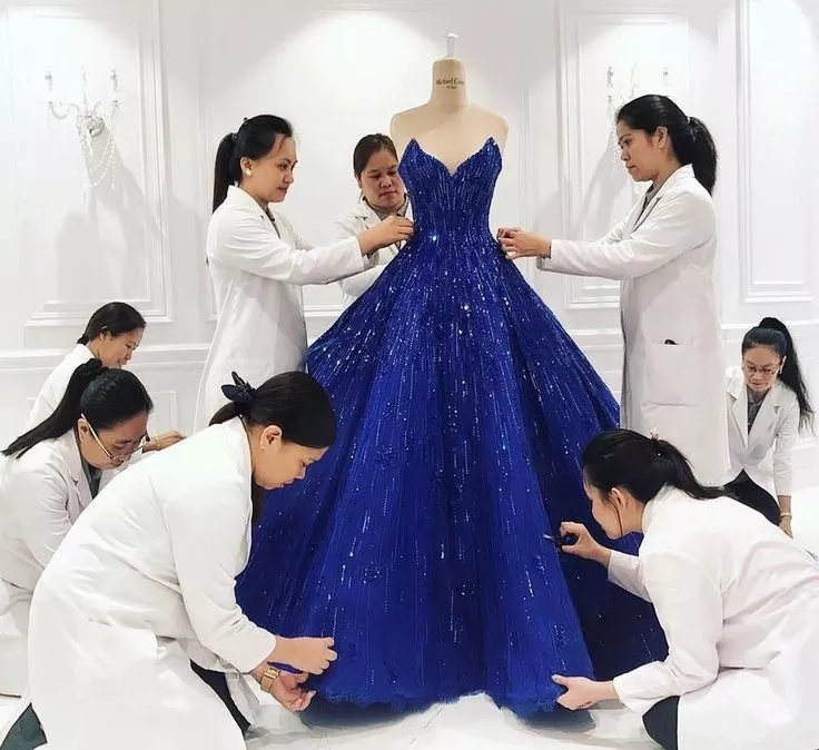 Michael Cinco designs four wedding gowns for Doc Vicki