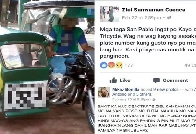 Enraged netizen calls out woman who deactivated Facebook after accusing post on deaf tricycle driver goes viral
