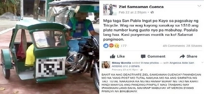 Netizen deactivates Facebook after malicious post against deaf tricycle driver goes viral