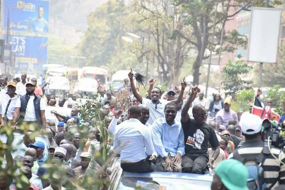 NASA leaders and supporters riotous trip around Nairobi CBD as captured in photos