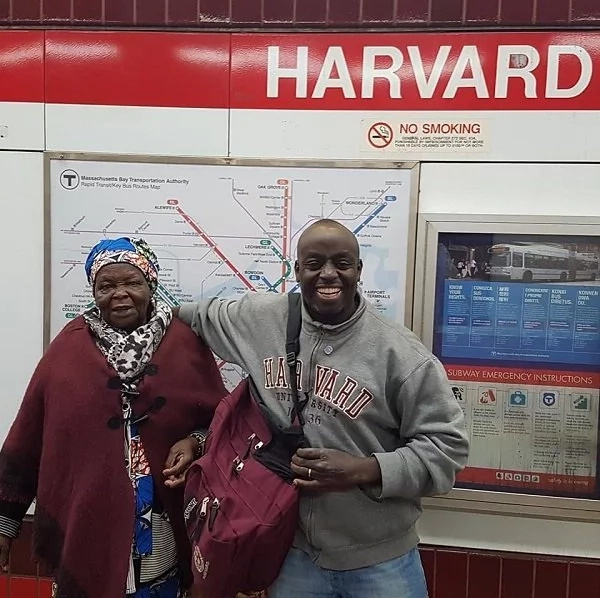 Kenyan man takes his 83-year-old mum to Harvard University and the reason will hit you right in the feels