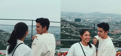 On the way to forever na ba? James Reid visits the love locks in Seoul with Nadine Lustre