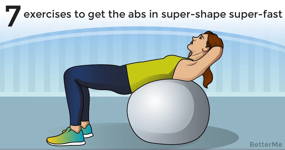 7 exercises to get the abs in super-shape super-fast