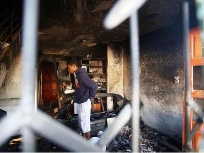Hero dad! Man runs into burning home and saves his daughter (photos)