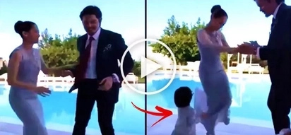 Talentadong pamilya! Watch Marian Rivera, Dingdong Dantes & Baby Zia have fun & dance with each other at a wedding in Italy!
