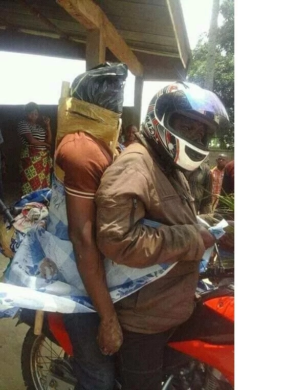 The village where the dead are tied on boda boda riders to be transported