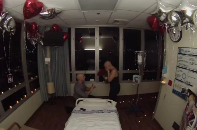 Guy Proposes On The Last Day Of His Girlfriend's Chemo Treatment, And Their Story Will Make Your Face Leak — VIDEO
