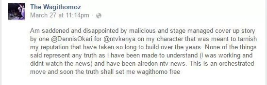 Churchill show comedian accused NTV of malice following the Sunday expose
