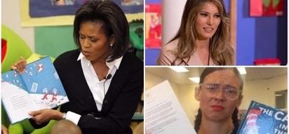 Melania Trump's fans slam Michelle Obama for reading 'racist' books