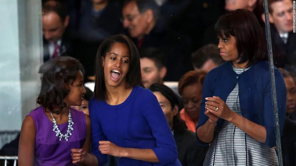 Michelle Obama revealed that Malia and Sasha had an epic final night at the White House