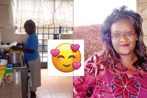 Kenyan woman makes a touching gesture to her house help of 13 years