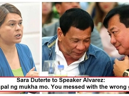 Digmaan na 'to! Sara Duterte lashes out at Alvarez for supposedly accusing her of being a member of the opposition