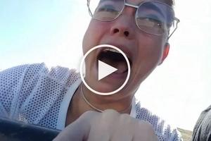 Rhian Ramos' terrified face during this adventurous ride will make you laugh