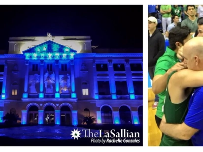 Sports lang! DLSU turns blue in honor of Ateneo's championship win
