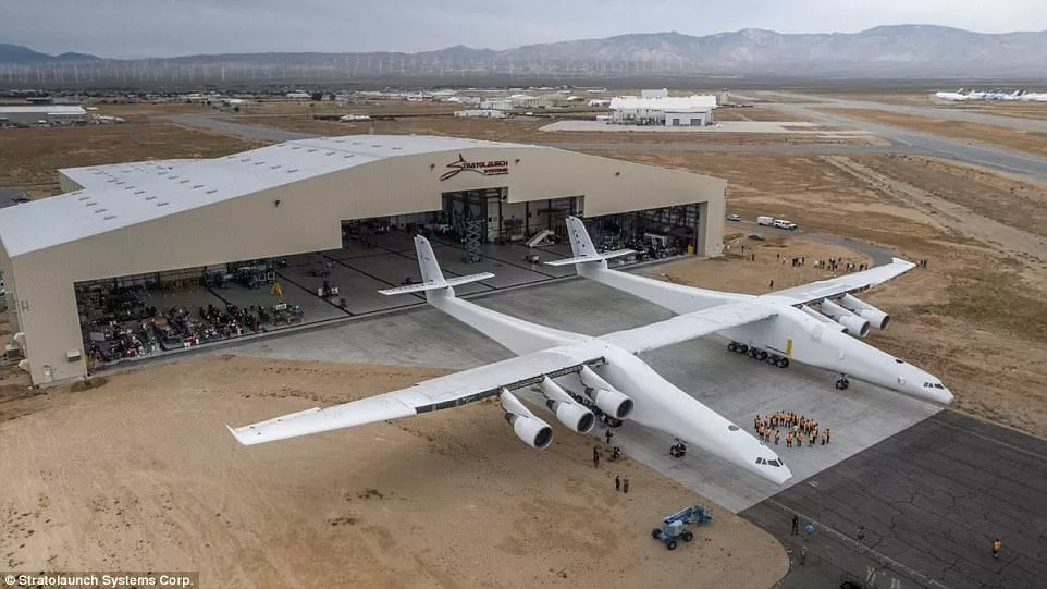 The plane is designed to carry and launch rockets and satellites into space