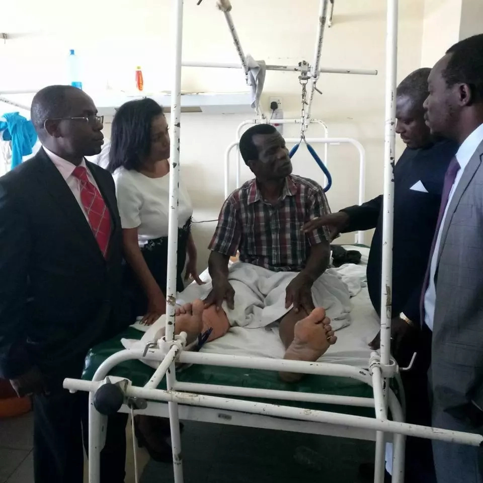 NASA leaders visit die-hard supporter who was run-over by a car during protests