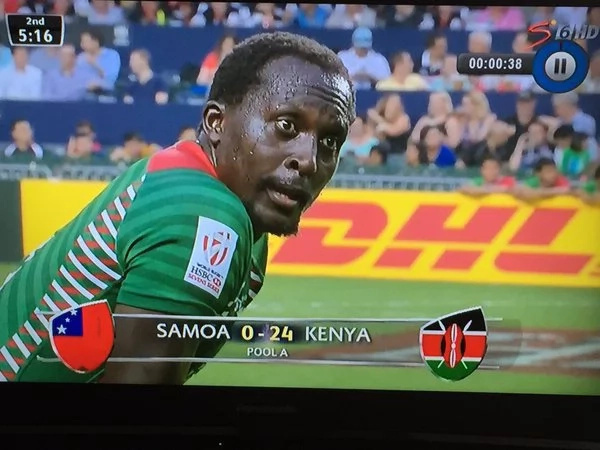 Kenya beat Samoa in Hong Kong Sevens