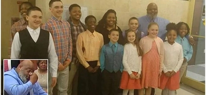 Heartwarming! Couple with 5 kids ADOPTS 6 siblings at once to avoid separating them (photos, video)