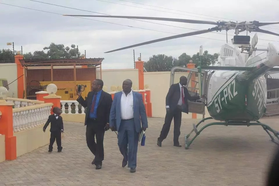 Sonko hires Peter Kenneth's chopper and flies adopted son to his Machakos home