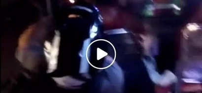 Severely drunk Pinoy motorist leaves motorcycle and rides the jeepney instead while still wearing helmet