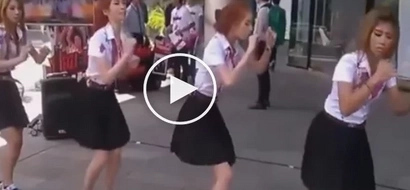 Dancing girls in front of Tutuban Cluster Mall go viral