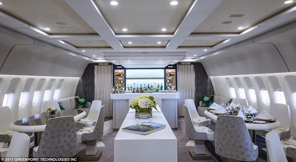The dining area complete with a bar. Photo: Crystal Cruises
