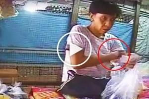 Pinoy cashier catches elderly woman hiding P100 change under armpit to get more cash