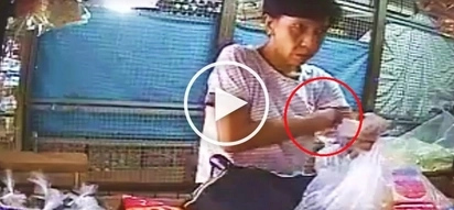 Pinoy cashier catches elderly woman hiding P100 change under armpit to get more cash