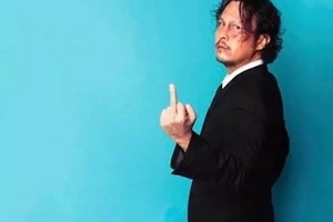 Doing what he does best! Baron Geisler provokes everyone with peeing photo